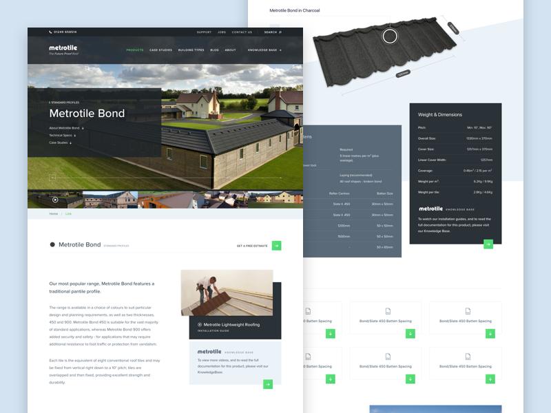 Tile Profile web ui type layout landing hero marketing homepage design