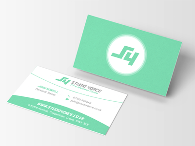 S4 Redesign force studio personal trainer mockup fitness business cards