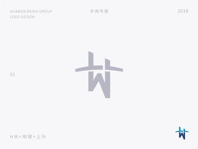 Huawen media group logo design 01