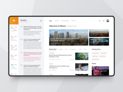 Slibrary website concept design