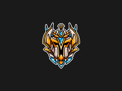 League of Legends | Rank Icon | Challenger rank challenger division riot games esports vector illustration league of legends