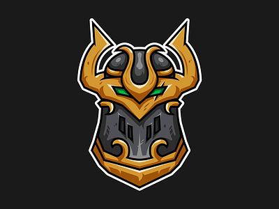 Felforged Helmet world of warcraft esport mascot esport logo esports vector illustration vector illustration
