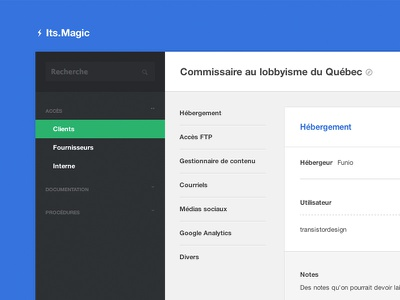 Its.Magic - Another information management tool flat ui ux web tables clean input toggle nav menu entypo icons