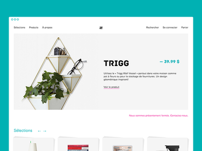 Boutique L'inventaire — homepage snapshot