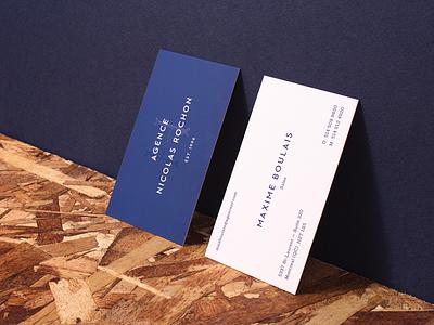 Agence Nicolas Rochon — Business cards agency vintage crest business card business cards