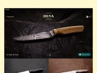 Couteaux Deva — homepage snapshot