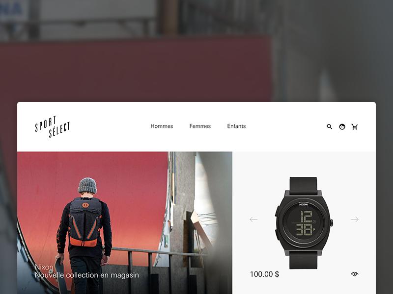 Sport Sélect — online store store shop product products ui woocommerce wordpress grid minimalist responsive mobile website