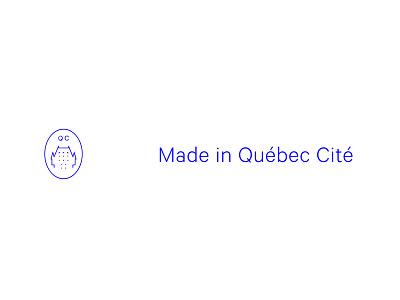 Made In Quebec Cité icon city blue design type crest branding