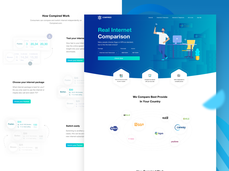 Compare Internet Providers >> Compare Internet Providers Landing Page By Muhammad Misbahul