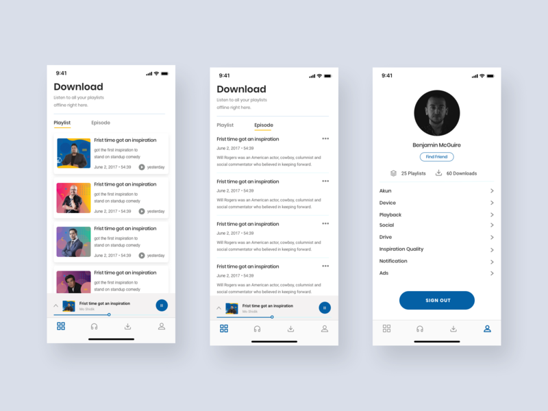 Podcast App - Download, and Profile Exploration by muhammad misbahul