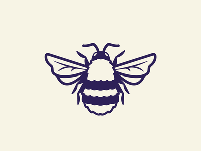 Bee Illustration #3 legs branding wings honey bee honeycomb honeybee honey nature insects insect bugs bug bees bee 2d vector icon flat illustration design