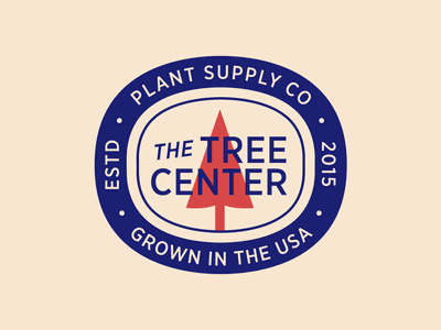 The Tree Center Badge pt. IX company supply usa plants plant nature trees tree stamp seal patch typography branding badge vector icon flat logo illustration design