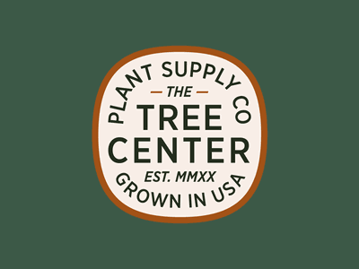 The Tree Center Badge pt. X typelockup font nature tree company supply plants plant typeface type patch typography branding badge vector icon flat logo illustration design