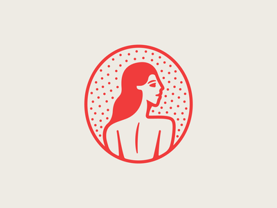 La Vecina pt. I rhode island instagram symbol mark shop tacos country red restaurant food mexico taqueria taco woman lady branding badge logo illustration design