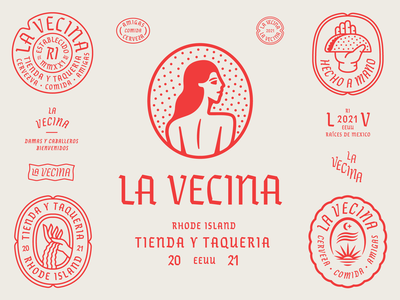 La Vecina pt. II art mexico wind earth water sunset sun hand women woman girl lady patch typography branding badge icon logo illustration design
