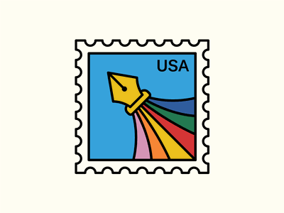 Packaging Tape Pt. I orange pink red yellow blue green mark stamp hue color colors illustrator pen tool pen typography badge icon logo illustration design