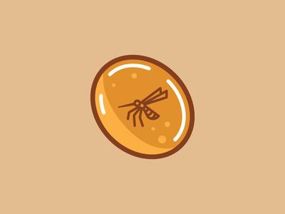 Amber Park amber mosquito icon illustration badge vector design 2d flat branding logo dailylogochallenge
