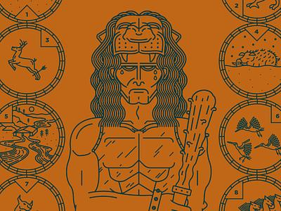 Hercules flat 2d animal design logo vector icon illustration