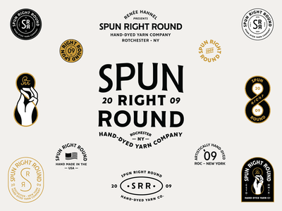 Spun Right Round seal enamel pin enamelpin pin flag usa hand carve patch typography branding badge icon vector logo flat 2d illustration design