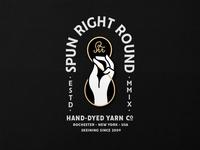 Spun Right Round Enamel Pin
