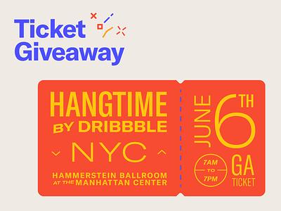 Hangtime NYC Ticket Giveaway giveaway typography branding icon vector logo 2d flat illustration design hangtimenyc