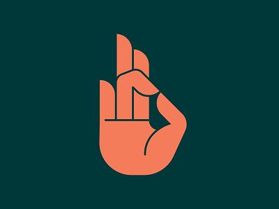 Unused Hand Mark #1 enamel pin icons mark fingers finger green pink badge design badge logo badge hands hand icon vector logo 2d flat illustration design