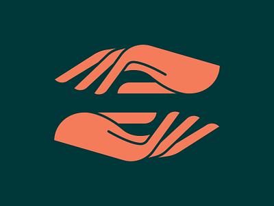 Unused Hand Mark #2 green mark symmetry symbol finger fingers badge logo badgedesign hands hand logo patch branding badge icon vector 2d flat illustration design