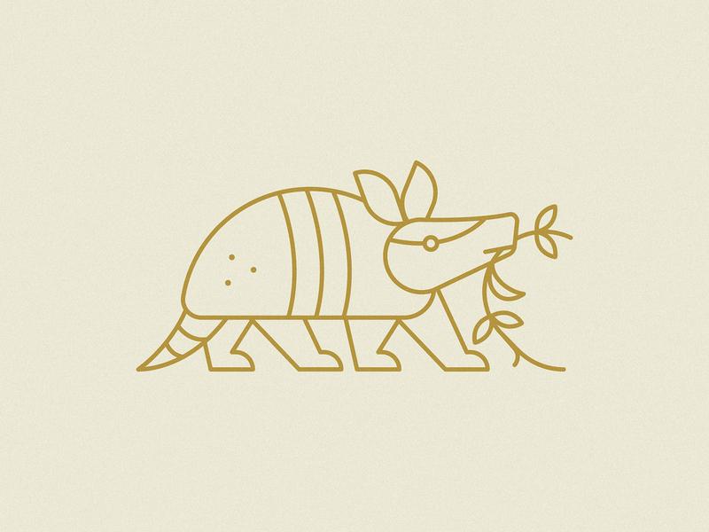 Armadillo earth animal mexico mariachi vine leaf design illustration illustrator package design packaging branding badge armadillo icon vector logo 2d flat illustration design