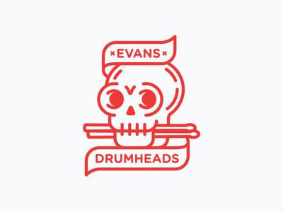 Evans Drumheads Sticker