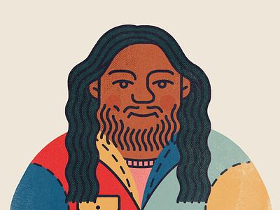 Self-Portrait Update beard styles style jacket denim icons art illustrator strokes stroke monoline self-portrait self portrait people human hair branding icon illustration design