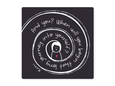 Rumi Quote yourself start begin journey quote design illustration art illustration illustrator rumi quote