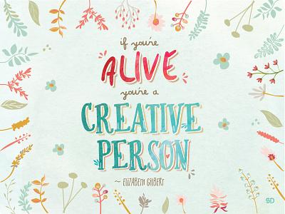 Elizabeth Dribbble typography colour colours creative graphic design quote