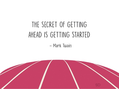 Artboard 21 dribbble illustration graphic quotes quote running track track getting started secret