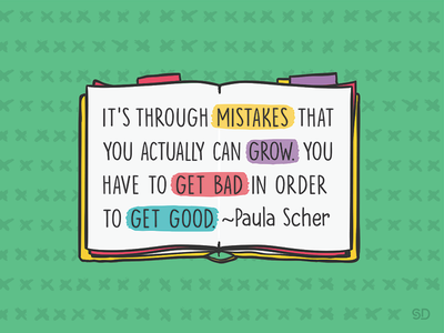 Paula Scher designquote inspire inspiring book graphic creativequote getgood colourful quote grow mistakes paulascher