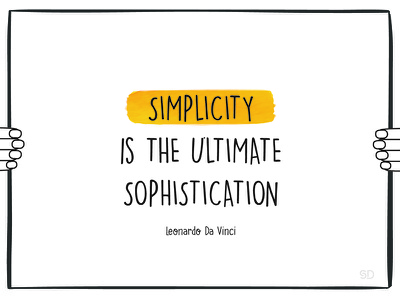Simplicity fingers yellow inspiring quotes quote davinci poster hands sophistication ultimate simplicity