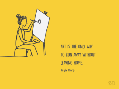 Art Quote drawing quote twylatharp illustration yellow painting home art