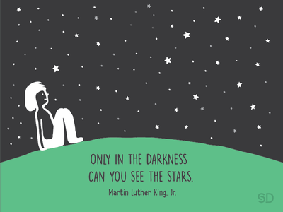 Stars graphic vectorgraphic illustration star creativequotes quotes green night see darkness stars