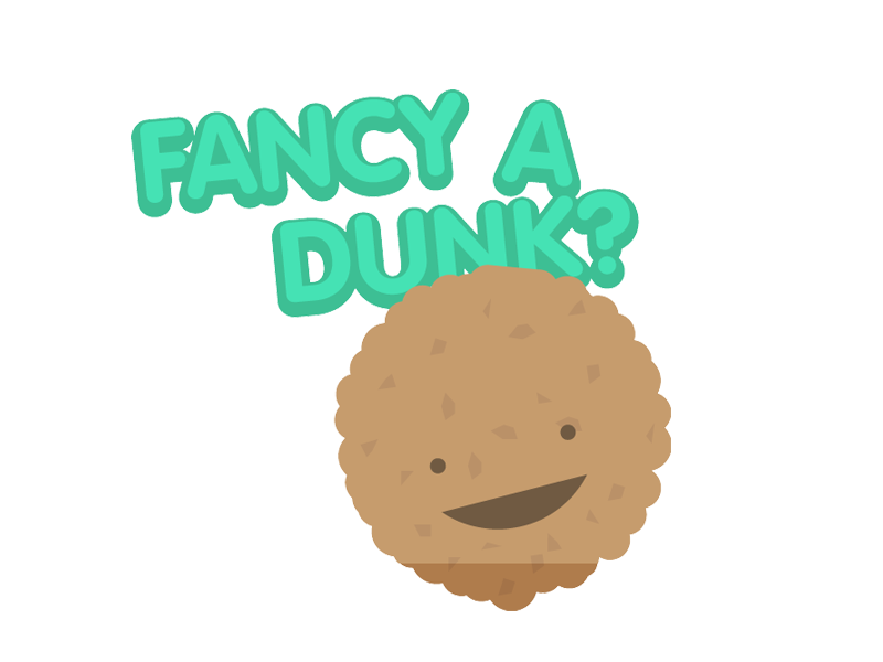 Fancy a dunk? app biscuit tea stickers imessage