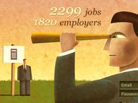Job search site header