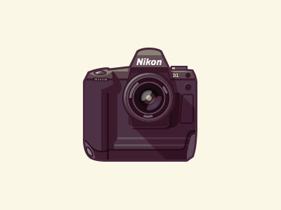 Camera - infographic element nikon d1 infographic camera flat long shadow illustration