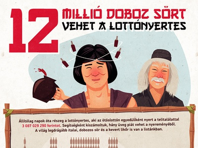 Drunk lottery winner - infographic