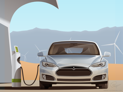Electric car - infographic element