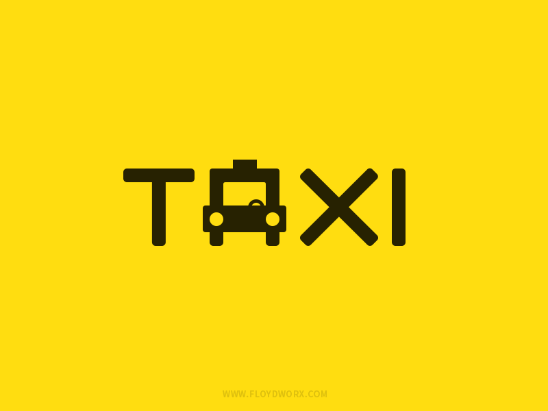 Taxi taxi logo simple