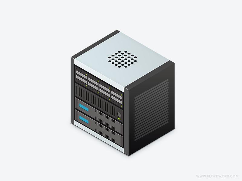 Isometric server photoshop rack server computer isometric iso