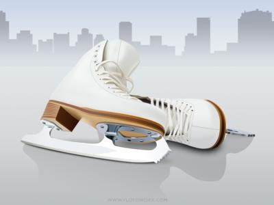 Figure skates - infographic element