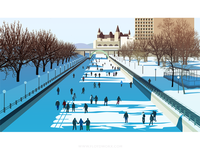 Ottawa ice rink - infographic element