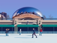 Chicago ice rink - infographic element