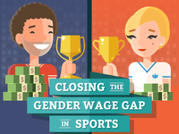 Wage gap in sports - infographic header