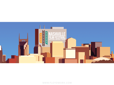 Nashville - infographic element house building skyscraper illustration vector metropolis city