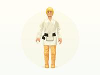 Luke action figure - infographic element